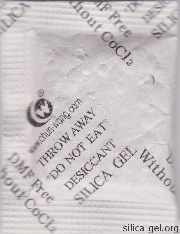 Chun-Wang Desiccant Packet With Black Print