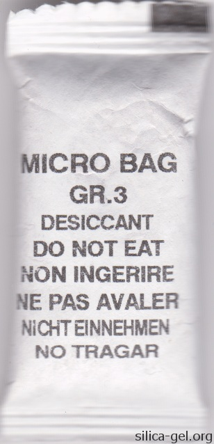 3-Gram Micro Bag Printed in Five Languages