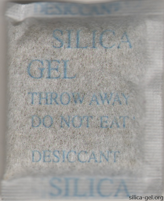 Rough Silica Gel Packet With Blue Printing
